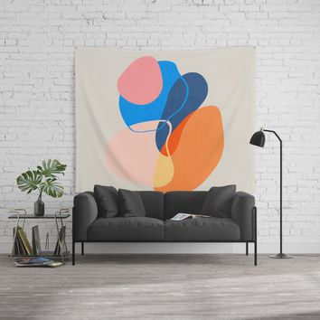 Modern minimal forms 38 Wall Tapestry by naturalcolors