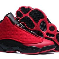 DCCKL8A Jacklish New Air Jordans 13 Retro Singles Day Red Black For Sale