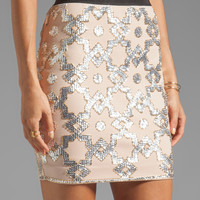 By Malene Birger Embellished Stretch Kiala Skirt in Skin
