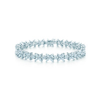Tiffany & Co. - Tiffany Victoria™ alternating bracelet in platinum with diamonds.