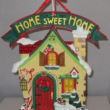 Mary Engelbreit Home Sweet Home Holiday Plaque-993670