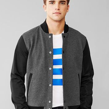 Gap Men Urban Active Contrast Fleece Varsity Jacket