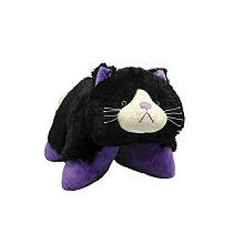 Purple Black Curious Cat Pillow Pets Pee Wees