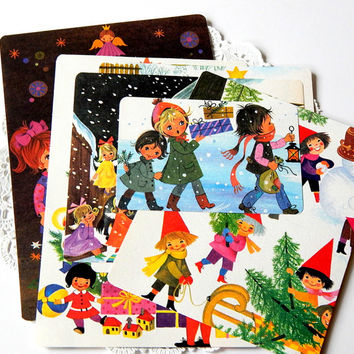 Vintage Children's Book Pages. My Big Christmas Book. Christmas Ephemera. Book Illustration. December Daily. Christmas Scrapbook. Paper Pack