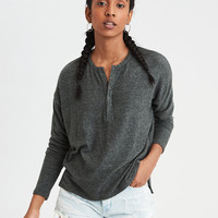 AE Soft & Sexy Plush Henley, Olive