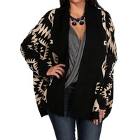 BlackMocha Tribal Print Knit Sweater