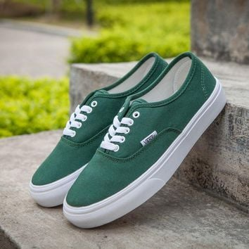 Best Online Sale Vans Authentic Green Sneakers Casual Shoes