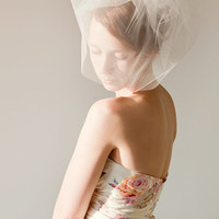 Touch of Sweetness - Double Layered Light Pink Blusher Veil