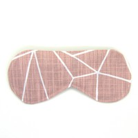 Sleeping Eye Mask/Night Eye Mask/Travel Eye Mask/Sleep Mask - Blush Pink Shattered