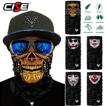 Skeleton Clown Seamless Scarf Neck Gaiter Face Mask Bandana Motorcycle Bicycle Cycling Outdoor Scarves Sun Windproof Head Shield