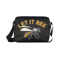Psylocke Waterproof Nylon Cross-body Bag with Let It Bee Print