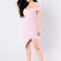 Do Or Die Dress - Pastel Pink