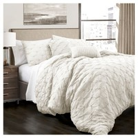 Ravello Pintuck Comforter Set 5pc - Lush Decor