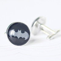 Batman cufflinks - Dark knight cufflinks - Cufflinks for HIM - Free Worldwide Shipping - Gift for HIM under 25 USD