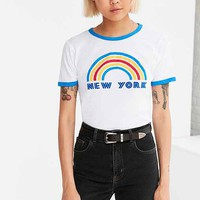 Truly Madly Deeply Flocked Rainbow Cities Tee