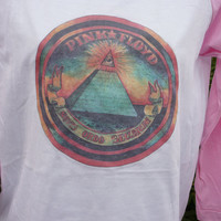 Pink Floyd t shirt ringer t shirt Vintage 70s t shirt Rock t shirt hippie 1970s graphic ink print t shirt hippy Screen Star X S small