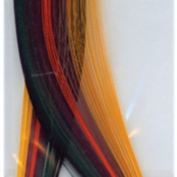 "Quilling Paper .125"""" 80/Pkg-Fall (8 Colors)"
