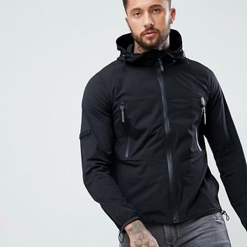 Religion Zip Through Jacket With Hood at asos.com