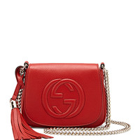 Soho Leather Chain Crossbody Bag, Red - Gucci