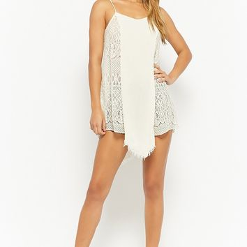 Crochet Lace Panel Cami Dress