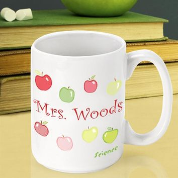 Teacher Coffee Mug - Happy Apples