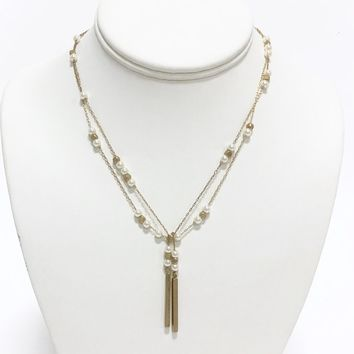 Pearl Love Gold Layer Necklace