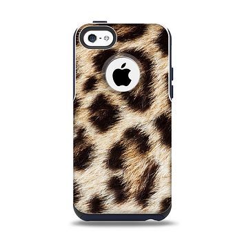 The Leopard Furry Animal Hide Apple iPhone 5c Otterbox Commuter Case Skin Set