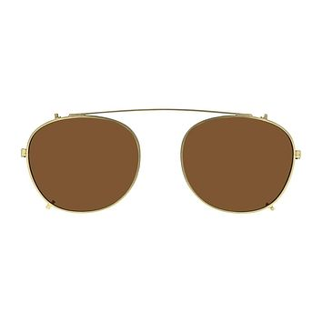 Life is Good - Oscar 49mm Gold Clip On Sunglasses / Bronze Lenses