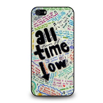 ALL TIME LOW COLOUR iPhone 5 / 5S / SE Case Cover