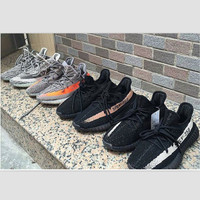"""Adidas"" Women Yeezy Boost Sneakers Running Sports Shoes SPYL-350 Black white"