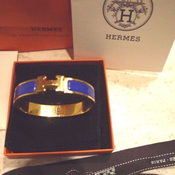 Hermes CLIC H EMAIl BLUE ROYAL GM F02 Color 07 All papers included