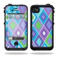 Mightyskins Protective Vinyl Skin Decal Cover for LifeProof iPhone 4 / 4S Case wrap sticker skins Pastel Argyle