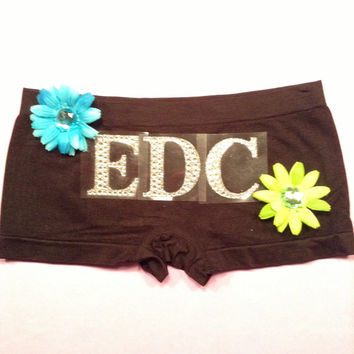 Hippie rave festival EDC costume outfit dance shorts by 2girls2Tus