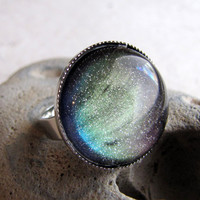 Northern Lights Ring in Silver by AshleySpatula on Etsy