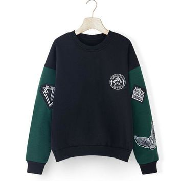 ESBONPR So Cool Unique Women's Long Sleeve Stitching Sweater Great Gifts