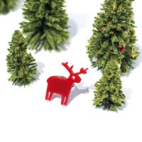 Red Reindeer Ring,Plexiglass Jewelry,Lasercut Acrylic,Gifts Under 25