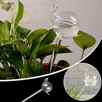 Snail Glass Watering Flower Planter Vase Container Wedding Garden Decor DIY