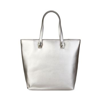 Cavalli Class Silver Synthetic Leather Shoulder Bag