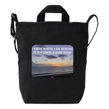 Cinch Photo Quote by Kat Worth Duck Bag