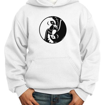 TooLoud Yin Yang Chicken Youth Hoodie Pullover Sweatshirt