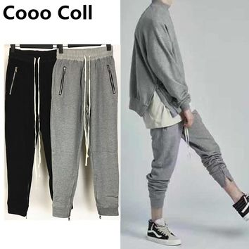 2018 Men pants Justin Bieber Hip Hop Fear Of God Warm streetwear Trousers kanye West Sweatpants joggers casual pencil Long Pants