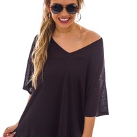 Summer Time Tunic, Black
