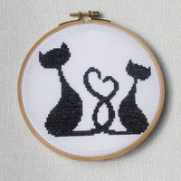 Cross stitch pattern PDF Cats love
