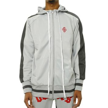 Own The Team Double Stripe Track Jacket Grey
