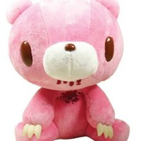 Gloomy Bear Sits Down Prime Plush (Pink with Blood)