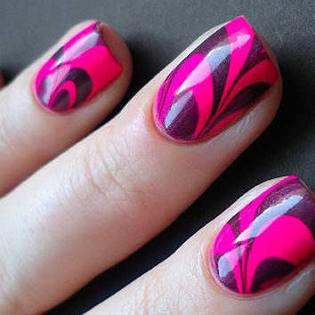 Beauty How To | Water Marble Nails | Olive Coco Mag