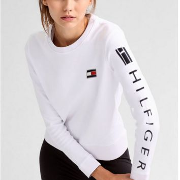 Tommy Jeans Fashion Long Sleeve Letters Pullover Sweatshirt Top Sweater