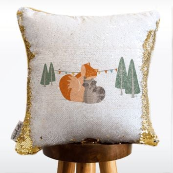 WOODLANDS Mermaid Pillow w/ Reversible White & Gold Sequins | COVER ONLY (Inserts Sold Separately)
