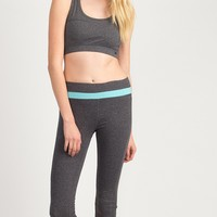 Mint Strip Yoga Capri Pants
