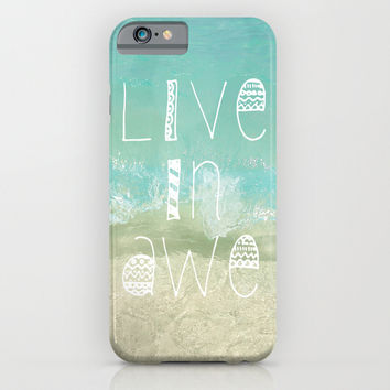 Live In Awe iPhone & iPod Case by Jenndalyn